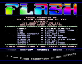 Flash Production Menu 1
