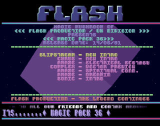 Flash Production Menu 2
